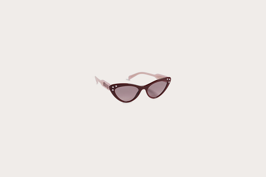 Crystals Cat Eye Sunglasses by Miu Miu