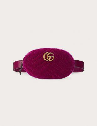 GG Marmont matelassé velvet belt bag