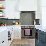 Kitchen with cabinets and a stove