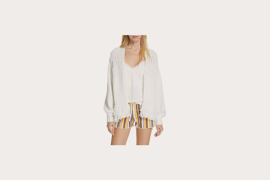 White Fringe Cashmere Cardigan from Nordstrom
