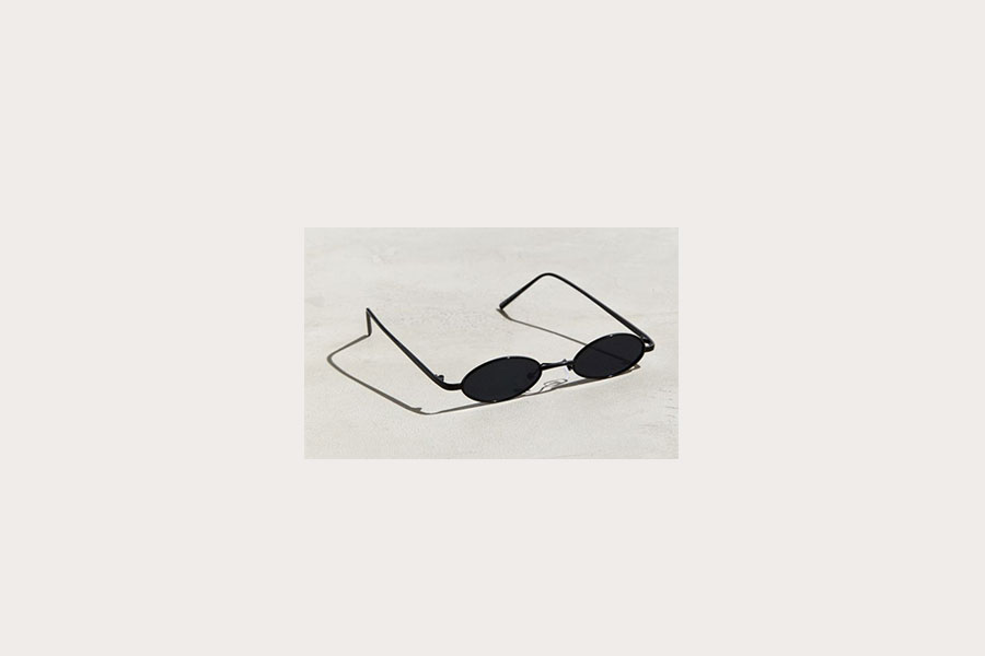 Narrow Mini Wire Oval Sunglasses