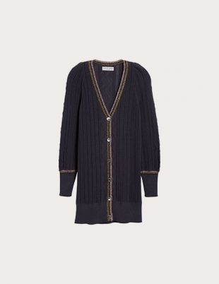 Piece Apart Puffy Sleeve Cardigan