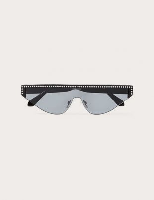 Shield D-frame crystal-embellished acetate sunglasses by Poppy Lissiman