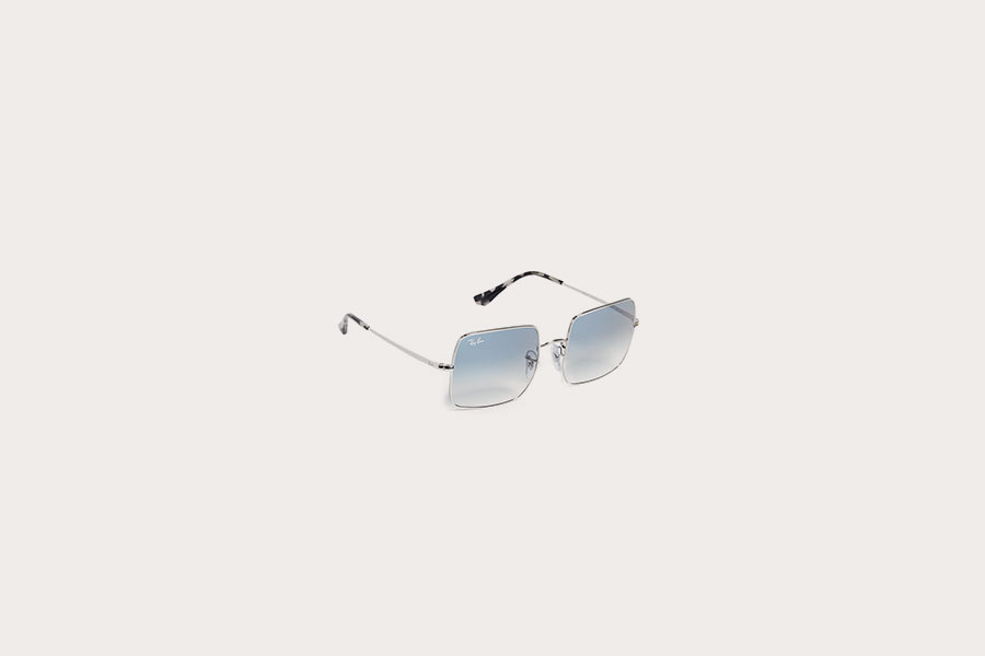 Oversized Square Mirrored Sunglasses by Ray-Ban