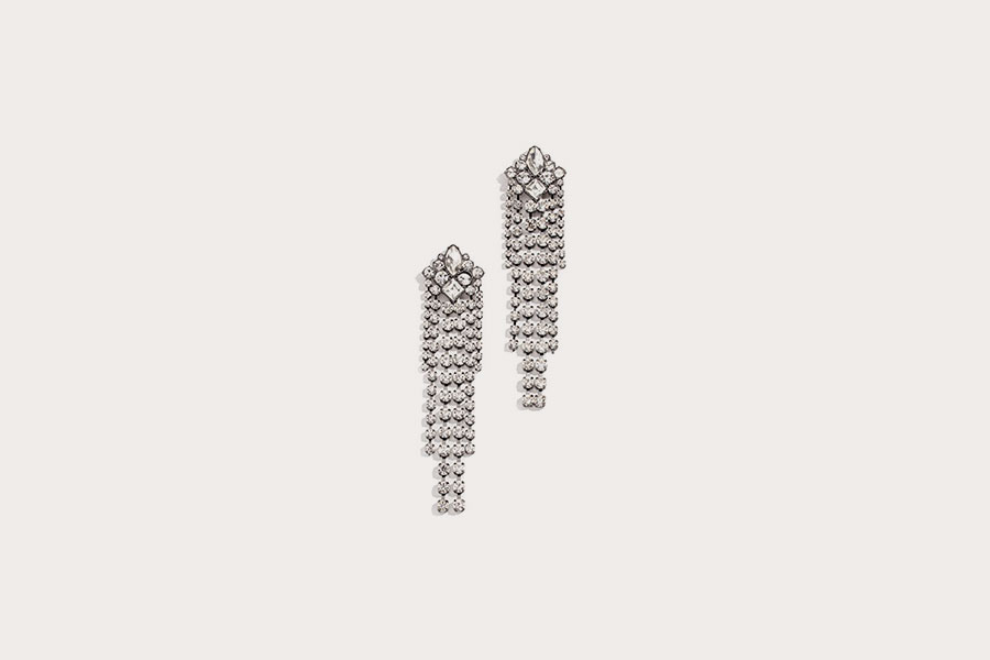 Gemma Crystal Fringe Earrings from Rebecca Minkhoff
