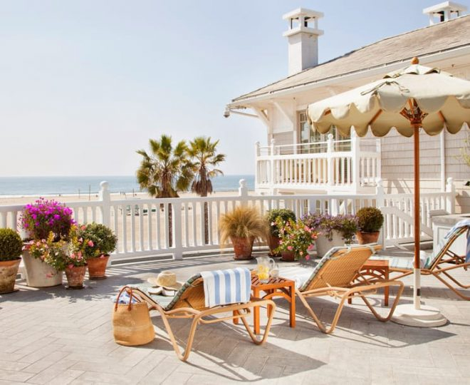 Beachfront with chairs
