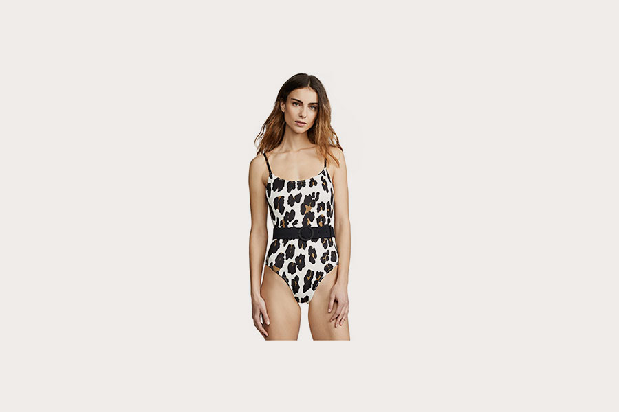 One piece leopard print swimsuit from Solid & Striped