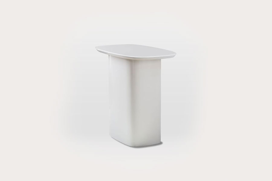 Superellipse Glass Top Side Table