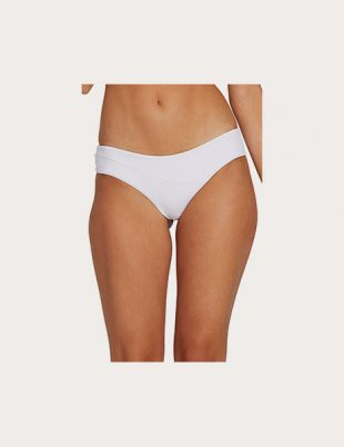 Seamless white bikini bottom from Volcom